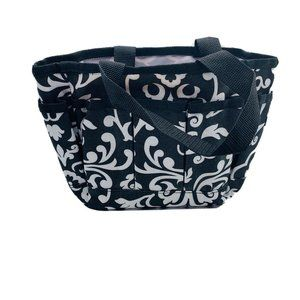 Thirty One Black White Open Bag Multi Pockets